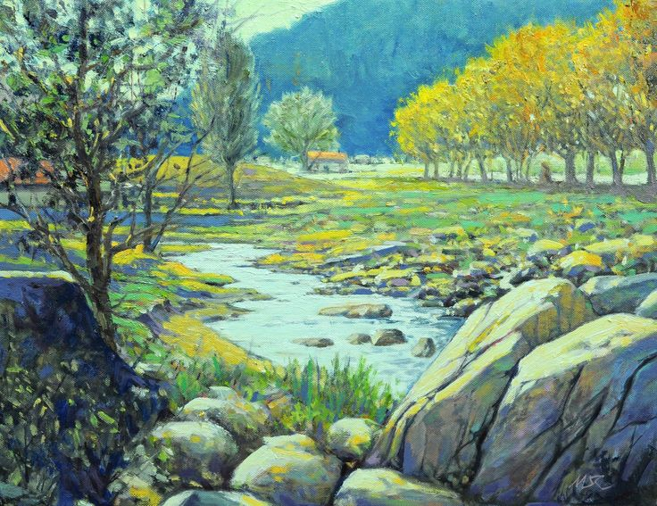 Day light at Booryeong Valley 2017_32cm x 41cm_OP