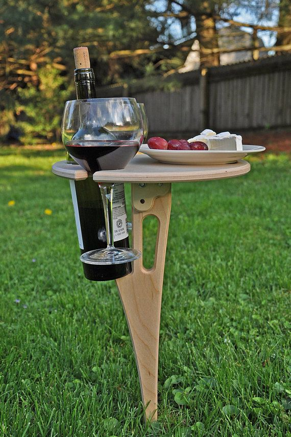 Outdoor Wine Table/ Folding Wine Table/ Wine Lover Gift/ Personalized/ FREE SHIPPING USA