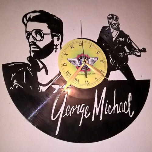 VINYL-PLANET-Wall-Clock-GEORGE-MICHAEL-WHAM