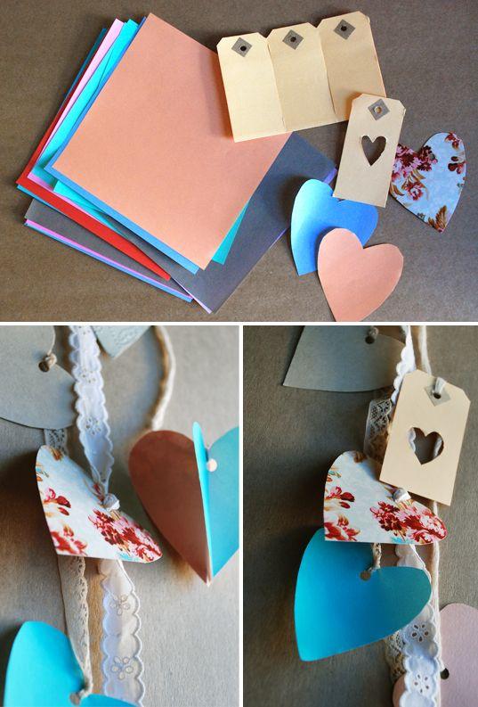 Valentine's Day Heart Garland {Craft}: Valentine Crafts, Heart Crafts, Garlands Crafts, Valentine Day Crafts, Heart Garlands, Baby Girl, Electronics Cigarettes, Cheap Electronics, Buying Electronics