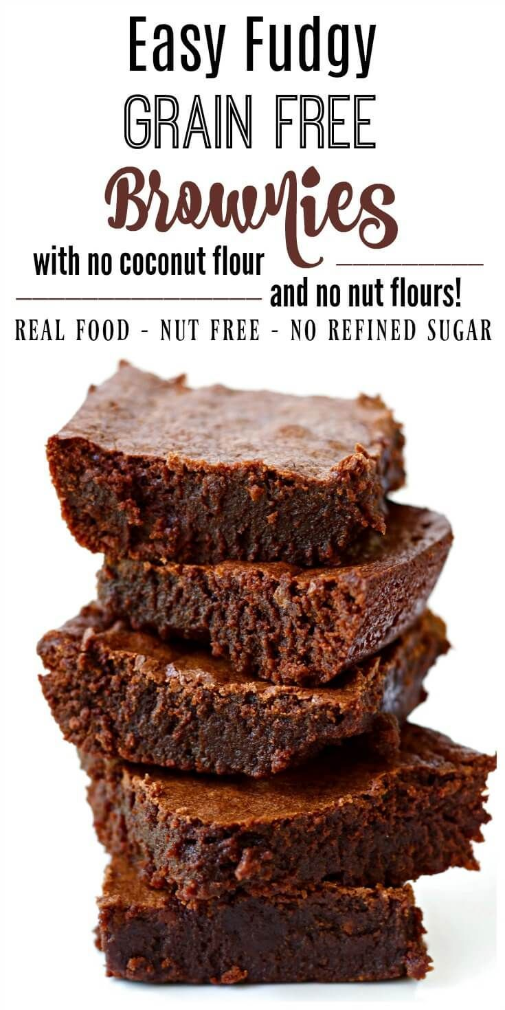 These decadent Fudgy Grain Free Brownies are out-of-this-world, crazy good. They're chewy with a nice crusty bite on top, made without refined sugar, naturally gluten free, Paleo-friendly and freeze beautifully too! You would never know these irresistible brownies are grain free.