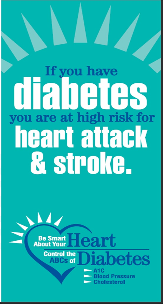 NJ:  Diabetes risk for Heart and Stroke Just click and you'll find so much on my board i.e. encouragement, food, research, warnings, hope and connections to other health problems....so much more.  Check it out.