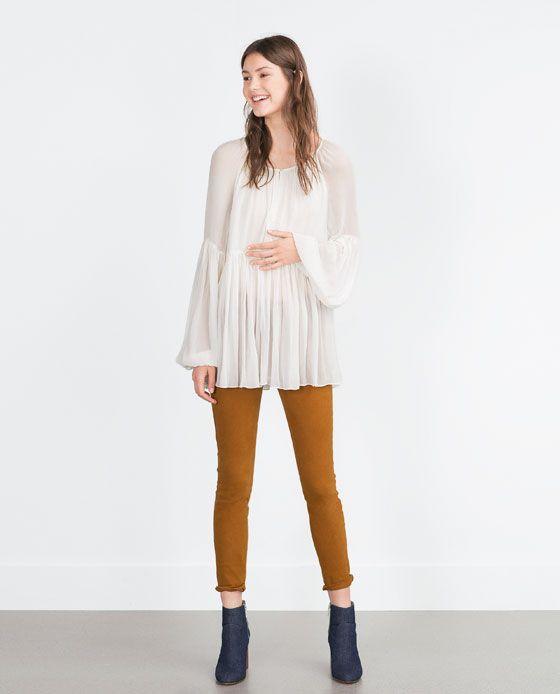 image 1 de chemise de coupe ample de zara fashion pinterest chemises zara et chemises. Black Bedroom Furniture Sets. Home Design Ideas