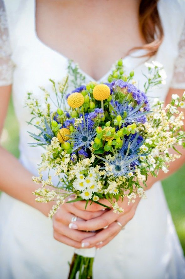 A Georgia Carnival Themed Wedding  I love the flowers in this bouquet!
