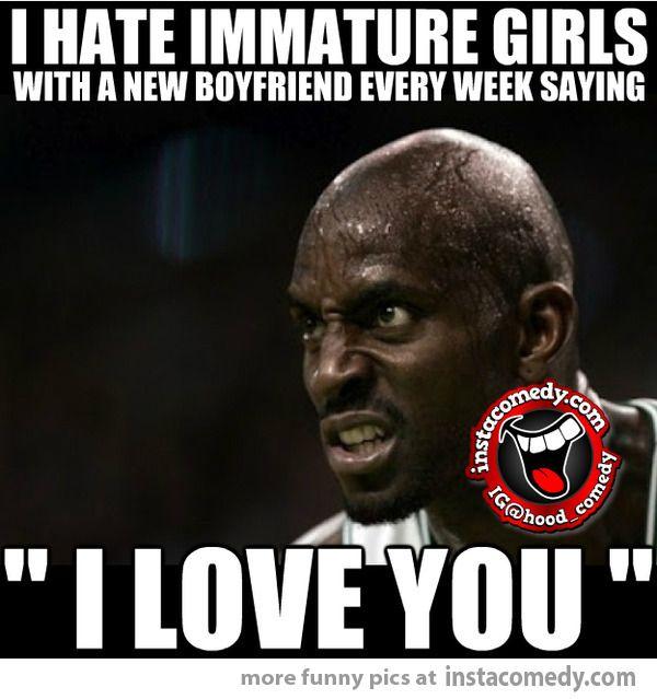 Immature girls who...