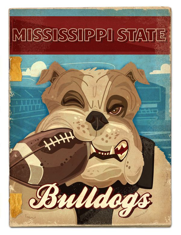 Mississippi State Bulldogs - SEC football preview by Thomas Burns. Leslie you need to get Tyler this!!!