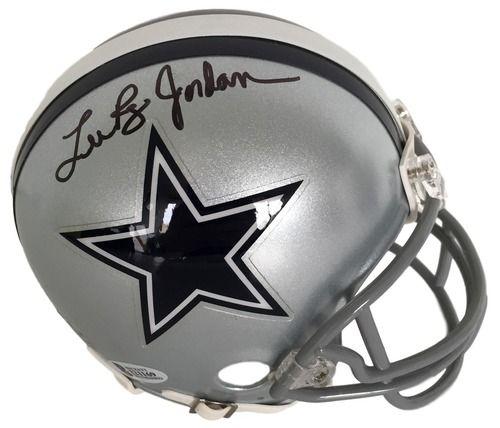 Lee Roy Jordan Signed Dallas Cowboys Riddell Mini Helmet Beckett BAS