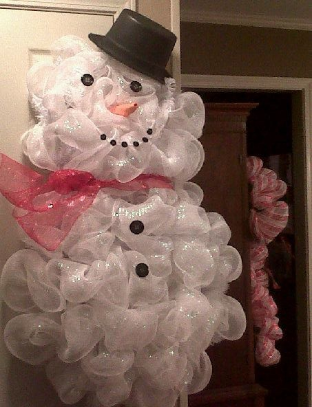 snowman wreath by dellajeffa