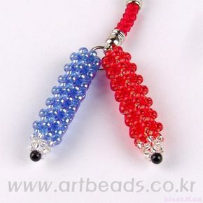 Beaded key chains scheme, key chains with their hands, the product of beads with schemes