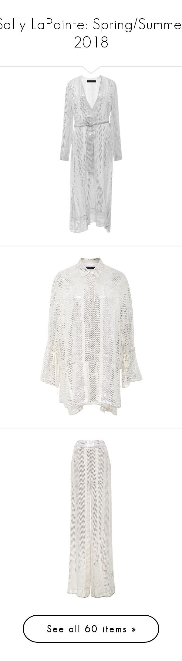 """""""Sally LaPointe: Spring/Summer 2018"""" by livnd ❤ liked on Polyvore featuring SALLYLAPOINTE, livndfashion, livndsallylapointe, springsummer2018, dresses, silver, silver sequin dress, long-sleeve midi dresses, long sleeve dress and silver midi dress"""