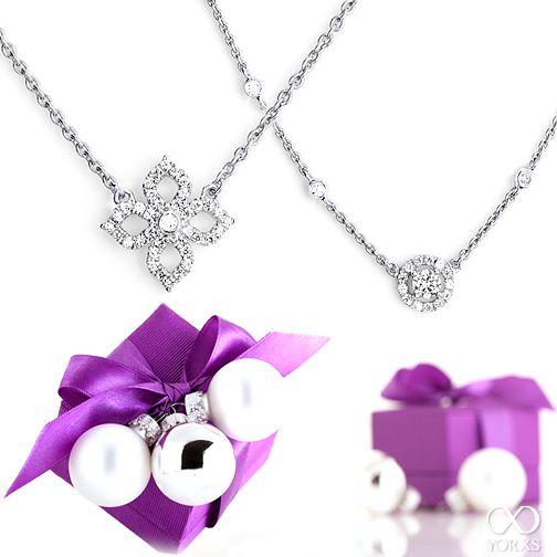 Make someone happy with these delicate necklaces #Yorxs #Diamantschmuck #Geschenkidee