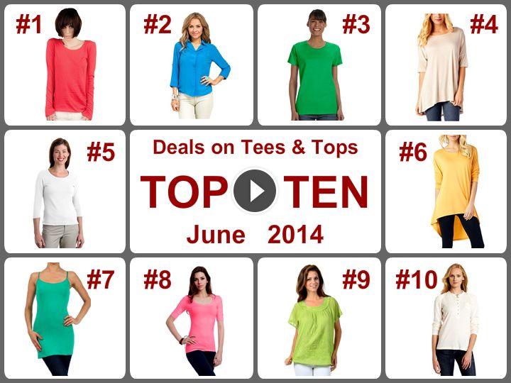 TOP 10 Amazing Deals on Tees  Tops (June 2014). Learn more - https://www.facebook.com/AmazingDailyDealsSite