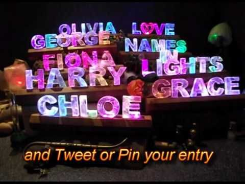 This is the thing to pin to enter the August Draw - details at namesinlights.co.uk