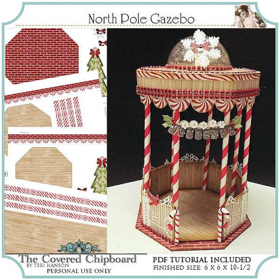 North Pole Gazebo 3D Project by TheCoveredChipboard on Etsy