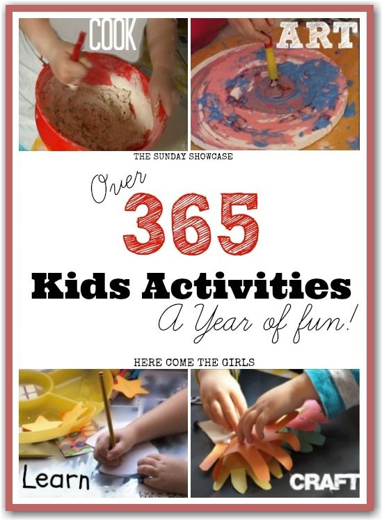 This is awesome! Over 365 kids activities - something for every day of the year. Recipes, play activities, learning, arts and crafts. Have a...
