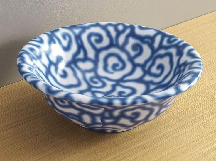 Countertop ceramic washbasin DÉCO BOLL | Countertop washbasin Boll Line by CERAMICA FLAMINIA | design Paola Navone