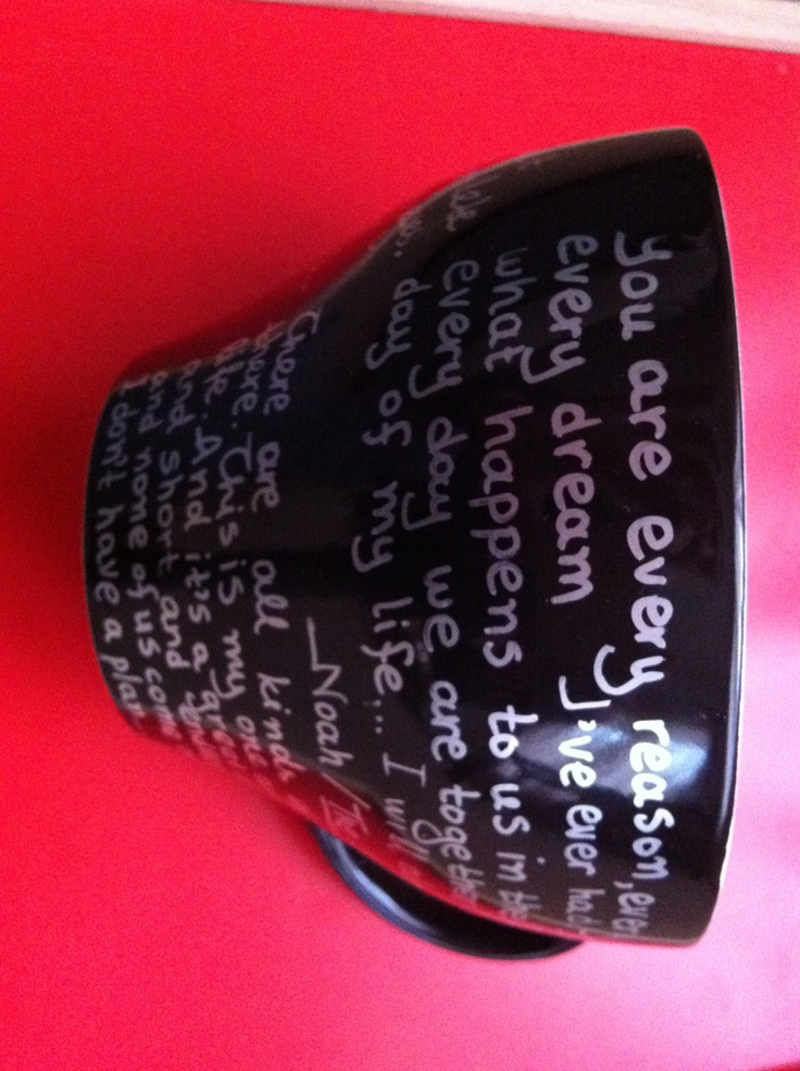 Mug black extra large with quotes from The Notebook by litsakiv, $20.00