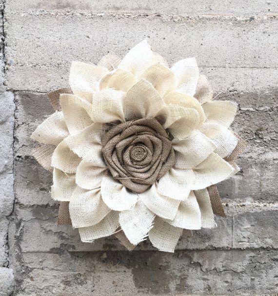 Sunflower Burlap Wreath Spring Wreaths for Front Door Burlap