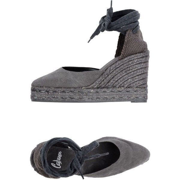 Castañer Espadrilles (400 MYR) ❤ liked on Polyvore featuring shoes, sandals, lead, castañer, espadrille wedge shoes, castaner espadrilles, castaner shoes and espadrille wedge sandals