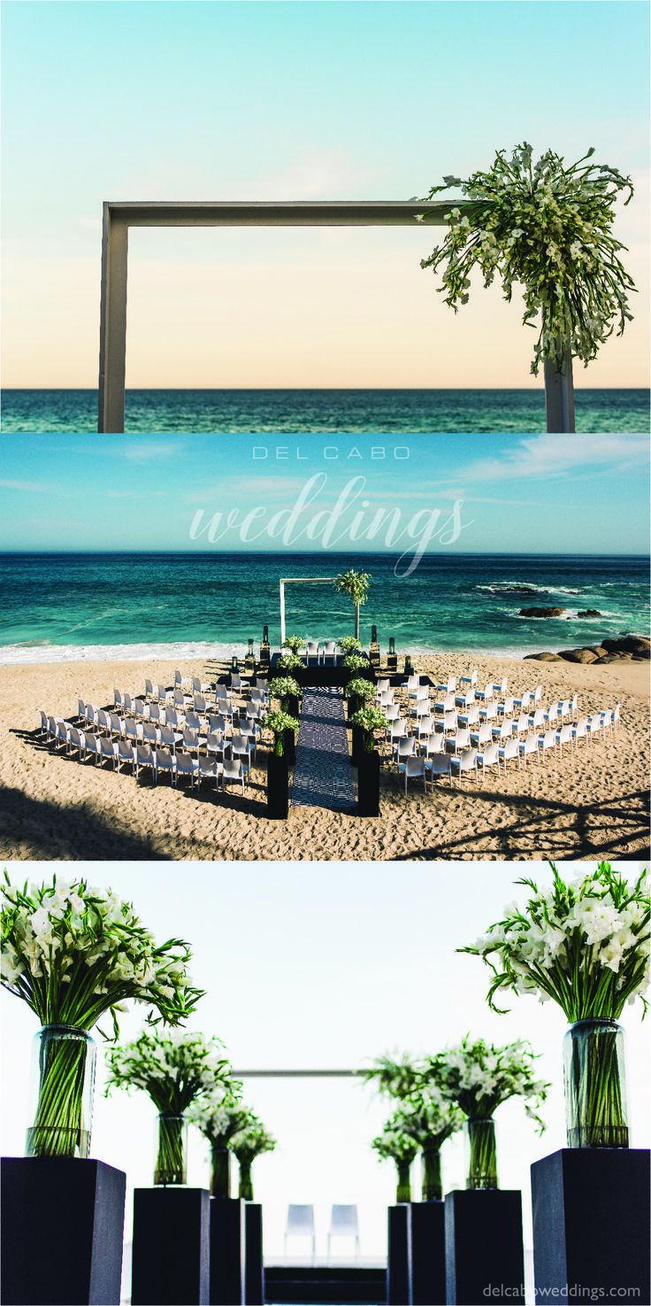 Different weddings ideas for your destination beach weddings in Cabo! Perfect details for your dream ceremony in a modern chic theme!