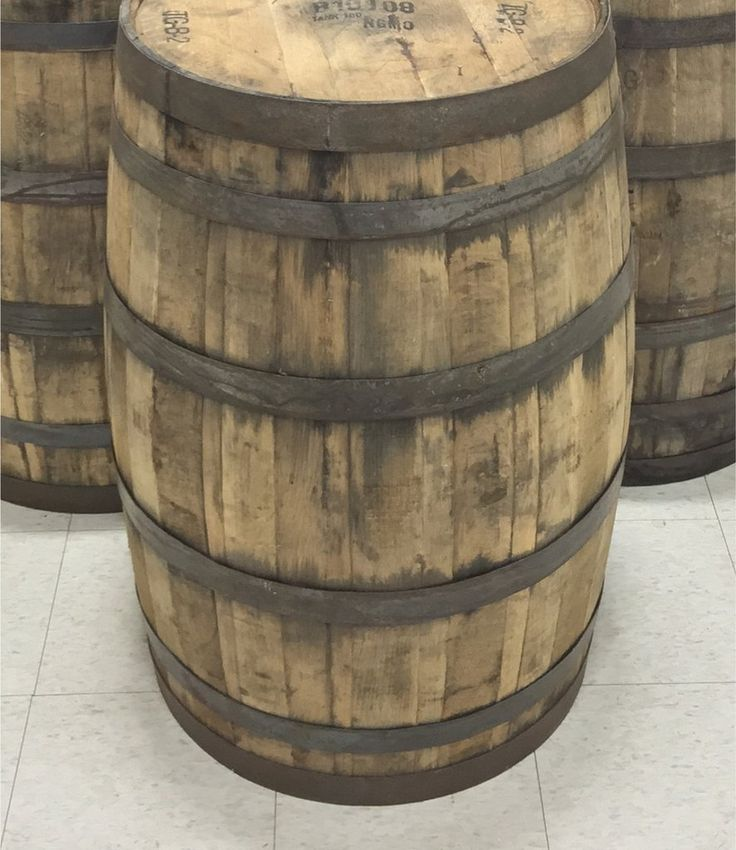 Single Whole 53 Gallon Whiskey Barrel for sale