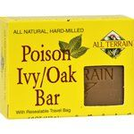 $5.59 - all-terrain-poison-ivy-oak-bar-soap-4-oz - All-Natural, Hard-Milled With Resealable Travel Bag Poison Ivy/Oak Bar is specially formulated to naturally cleanse and soothe irritated skin due to Poison Ivy/Oak and other skin allergies.