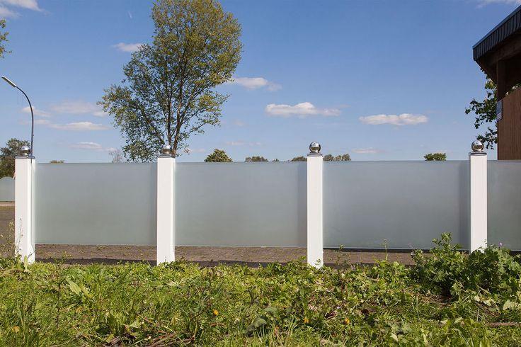 Glas Zaun Sichtschutzwand aus Einscheibensicherheitsglas 100x60 cm LxH Klarglas