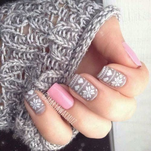 My Accessories World: Warm & Cosy Inspirations #nails #nailart #mani #manicure #cosy #warm #seaterweather