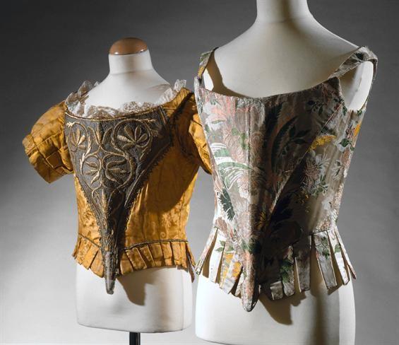Women's stays circa 1660 to 1680. Museu Nacional do Traje. Accession Number: 29725 TC