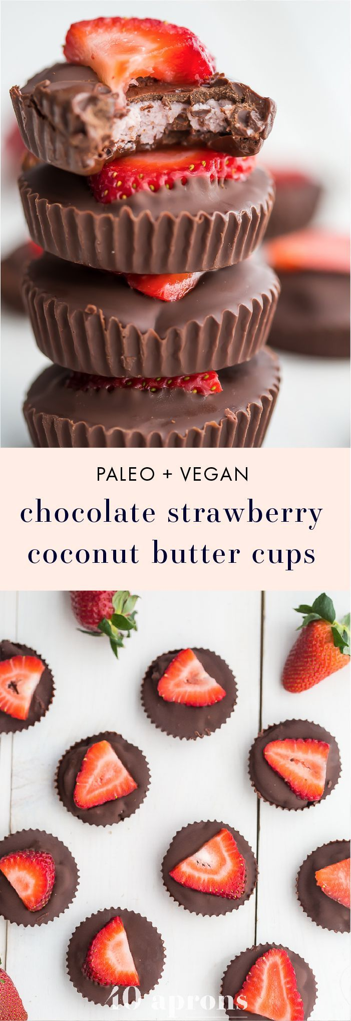 #chocolate #strawberry #coconut #butter #cups #vegan #paleo #candy #confectionary #sweets #sweetsforthesweet