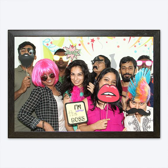 Fun Office Party Packs | Partyzing All you have to do is put it up. Get our funky wigs, fancy frames and photo props for the cool selfies. Select the winner. Wait it does not stop here. Once you have selected the winners, send us the pictures and we will have them printed, framed and delivered to the winner's desk. Who doesn't like looking back at an amazing memory?  Swag Station Party Pack at rs.2500