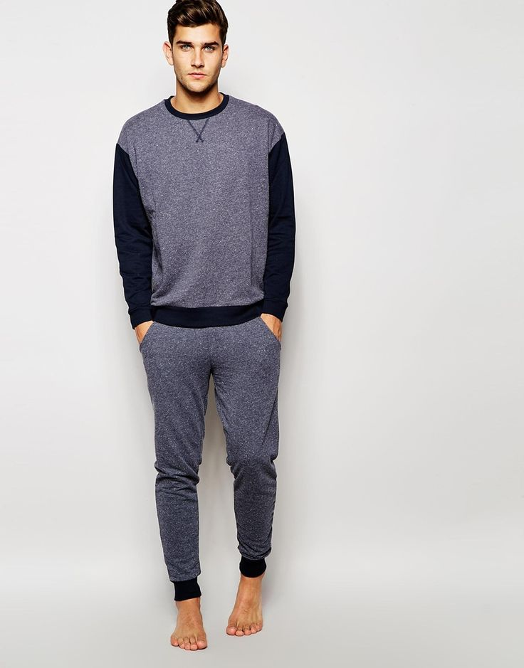 Image 1 of ASOS Loungewear Set In Nepp Fabric