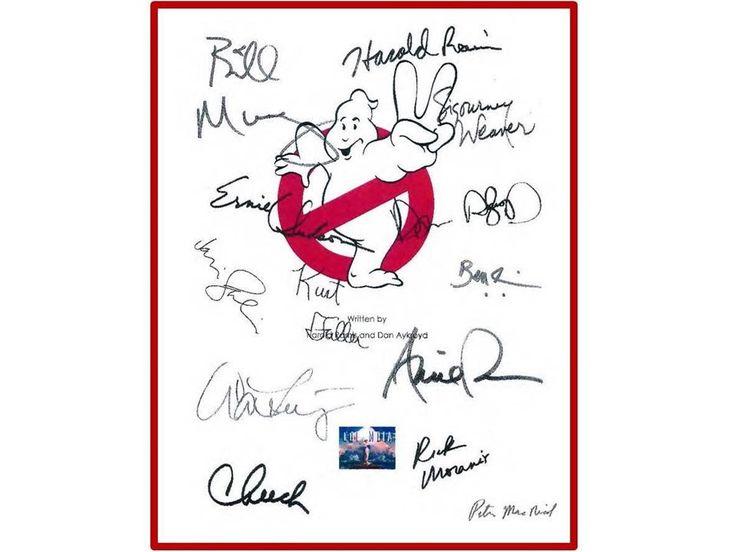 Ghostbusters 2 Movie Script Signed Autographed: Bill Murray, Dan Aykroyd, Sigourney Weaver, Harold Ramis, Rick Moranis, Ernie Hudson