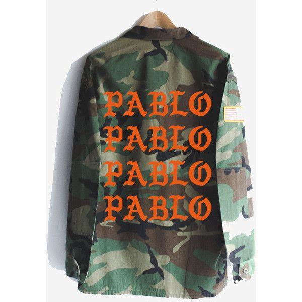 Pablo Kanye West Yeezy Yeezus Vintage Camo Camouflage Military Jacket ($85) ❤ liked on Polyvore featuring outerwear, jackets, army camo jacket, camoflage jacket, vintage camo jacket, camo field jacket and camouflage jacket