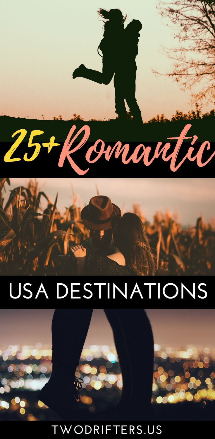 Looking for the most romantic places to travel in the US? Here are some of the sweetest spots in the USA for couples. Romantic destinations United States | USA travel romantic. #Travel #traveladdict  #couples #honeymoon #romance