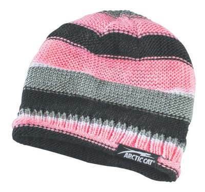 Arctic Cat Womens Aircat Striped Beanie New Pink 5233 014 Ecklund  Motorsports $8.48