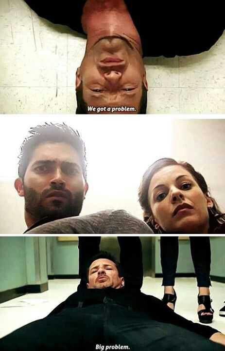Ian Bohen (Peter) , Tyler Hoechlin (Derek) , & Haley Webb (Ms. Blake) - Teen Wolf