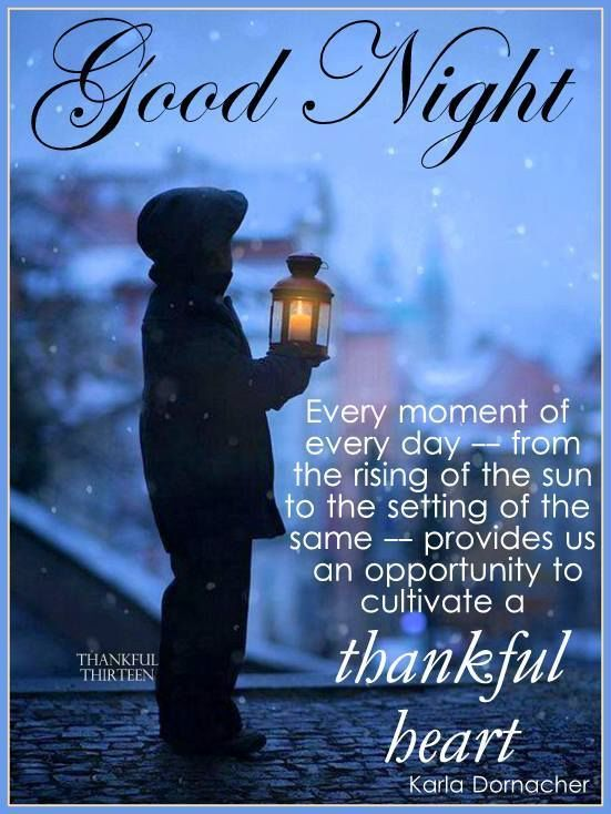 Goodnight Have A Thankful Heart