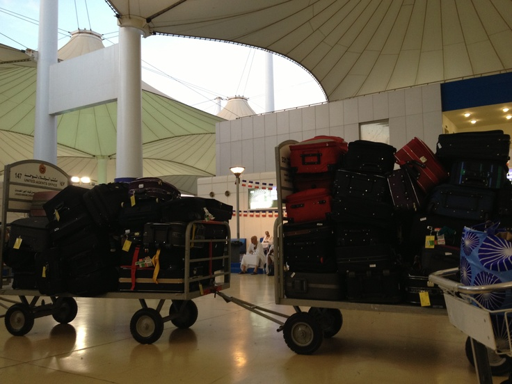 Luggage at hajj terminal jeddah airport