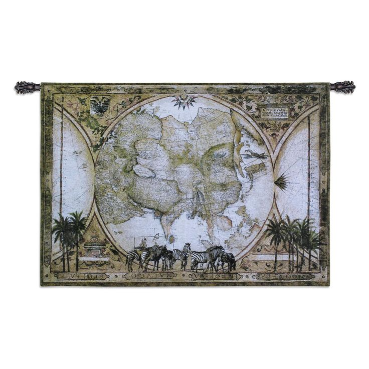 Fine Art Tapestries Tropic of Capricorn Wall Tapestry - 1713-WH