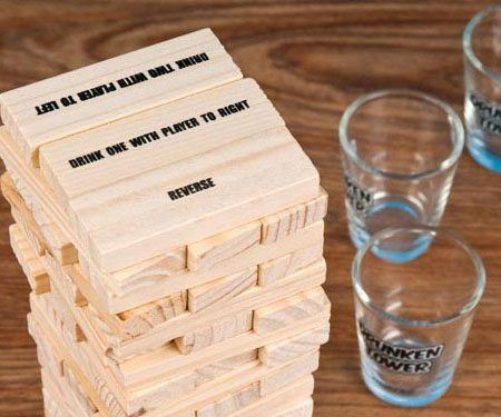Wooden Stacking Blocks Drinking Game - https://tiwib.co/wooden-stacking-blocks-drinking-game/ #AlcoholicGear, #GiftsForMen #gifts #giftideas #2017giftideas #xmas