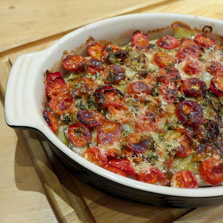 "Genial grønnsaksform - ""ratatouille i ovn""  -- Helles kitchen"