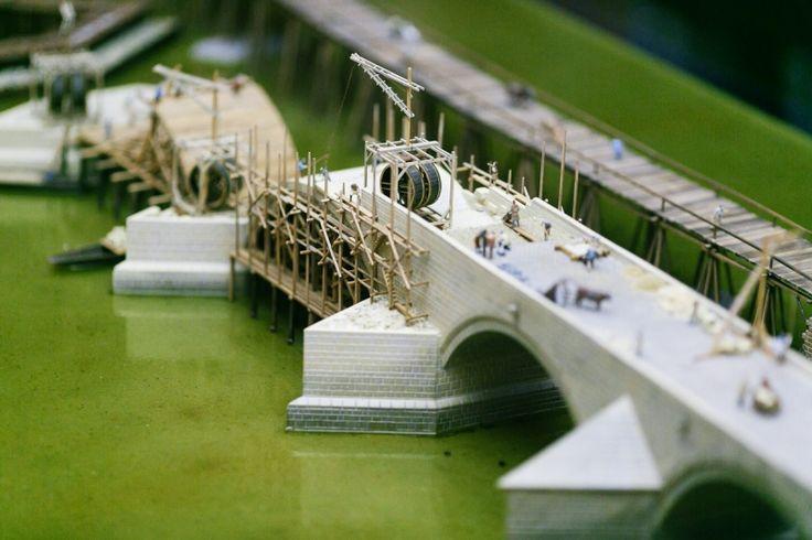 Model stavby Karlova mostu | Muzeum Karlova mostu