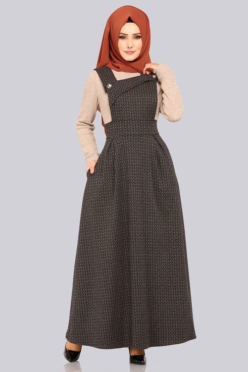 c64cf0a8a9b2a ELBİSE Düğme Detay Pileli Jile 5441MP186 Vizon | model in 2019 | Elbise  modelleri, Elbiseler, Kıyafet