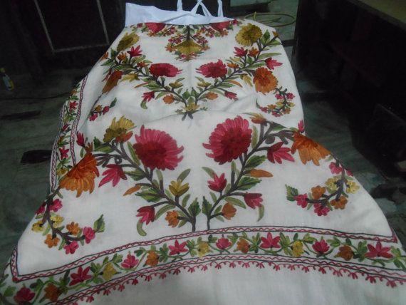 kashmiri+embroidery+shawl+floral+design+by+kashmirshawlfactory,+$40.00