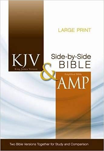 KJV, Amplified, Parallel Bible, Large Print, Hardcover, Red