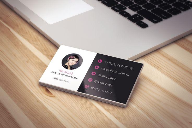 Дизайн визитки фотограф