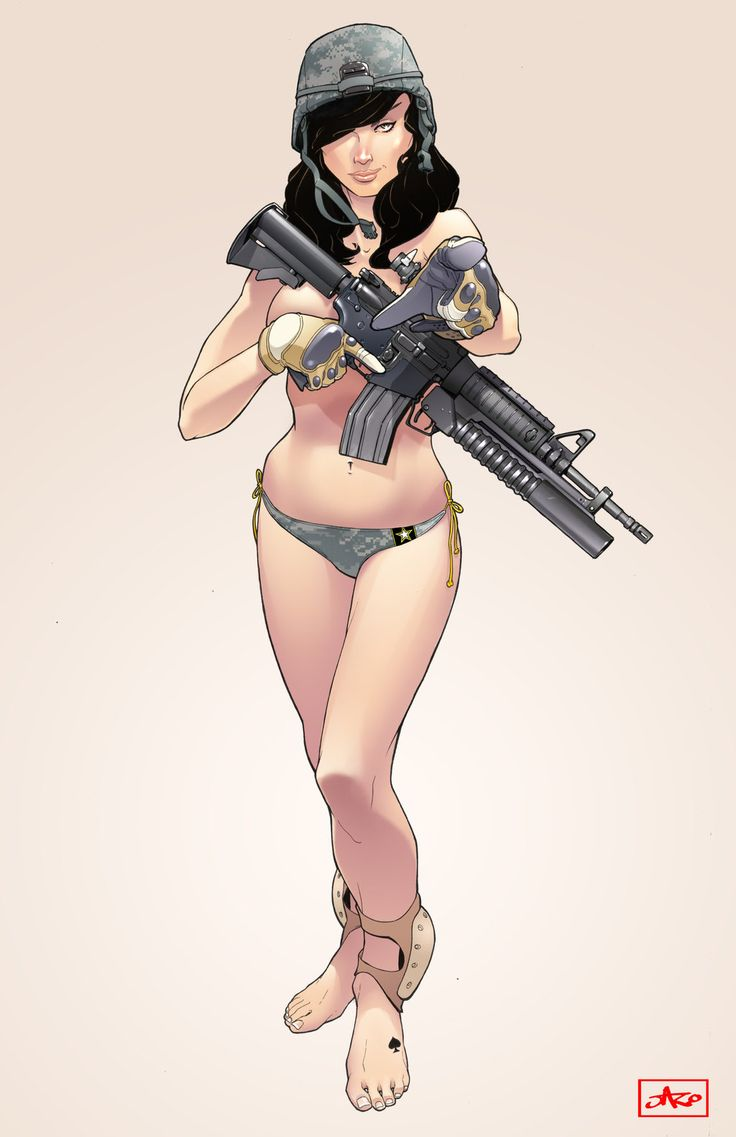 Best Pin Up Art Images On Pinterest Vintage Posters - Anime guns decalssexy anime girl with big gun for car decal by skywallvinyldecals
