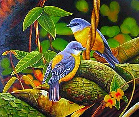 BIRD ART~ Bluebirds