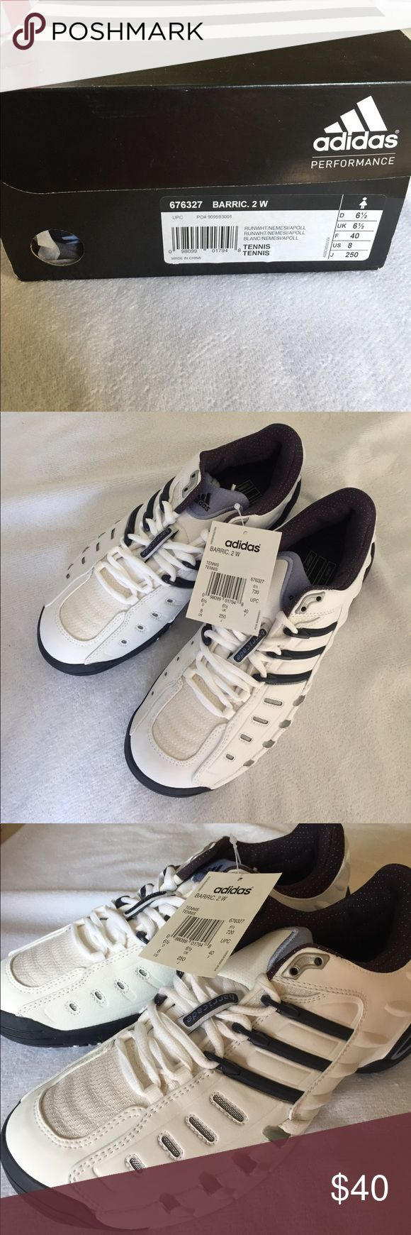 NWT Adidas Barricade Women's Tennis Shoes - Size 8 New with tags and box - Adidas Barricade Women's Tennis Shoes - Size 8. Brand new, never worn. adidas Shoes Sneakers